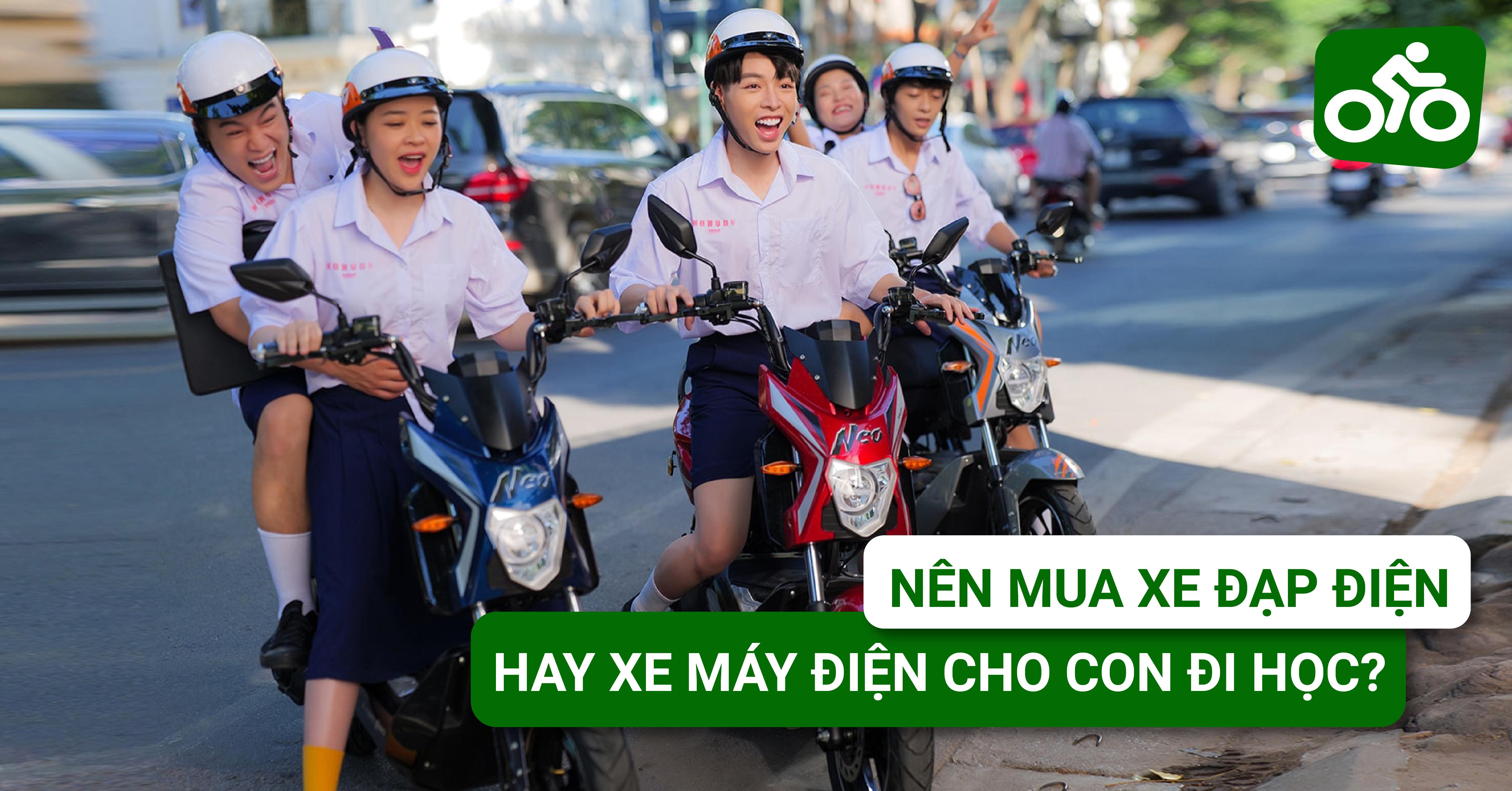 Nên mua xe đạp điện hay xe máy điện cho con đi học?